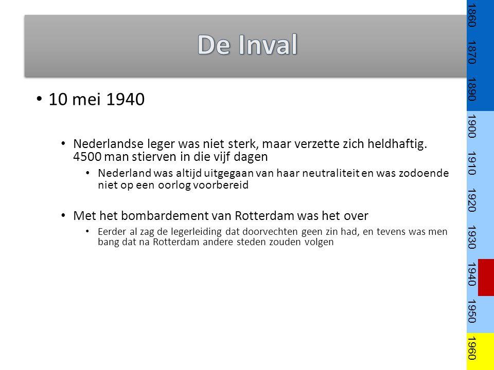 1860 1870. 1890. 1900. 1910. 1920. 1930. 1940. 1950. 1960. De Inval. 10 mei 1940.
