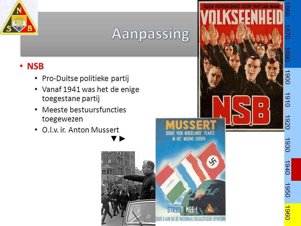 Aanpassing NSB Pro-Duitse politieke partij
