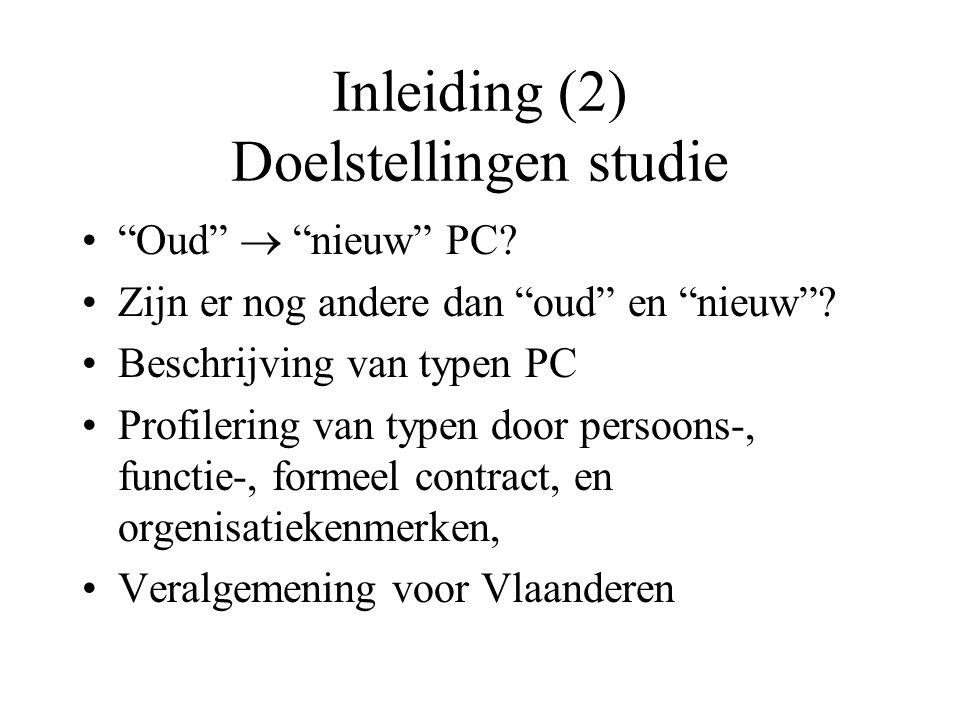 Inleiding (2) Doelstellingen studie