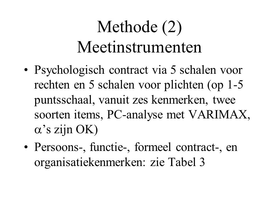 Methode (2) Meetinstrumenten