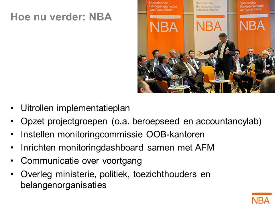 Hoe nu verder: NBA Uitrollen implementatieplan