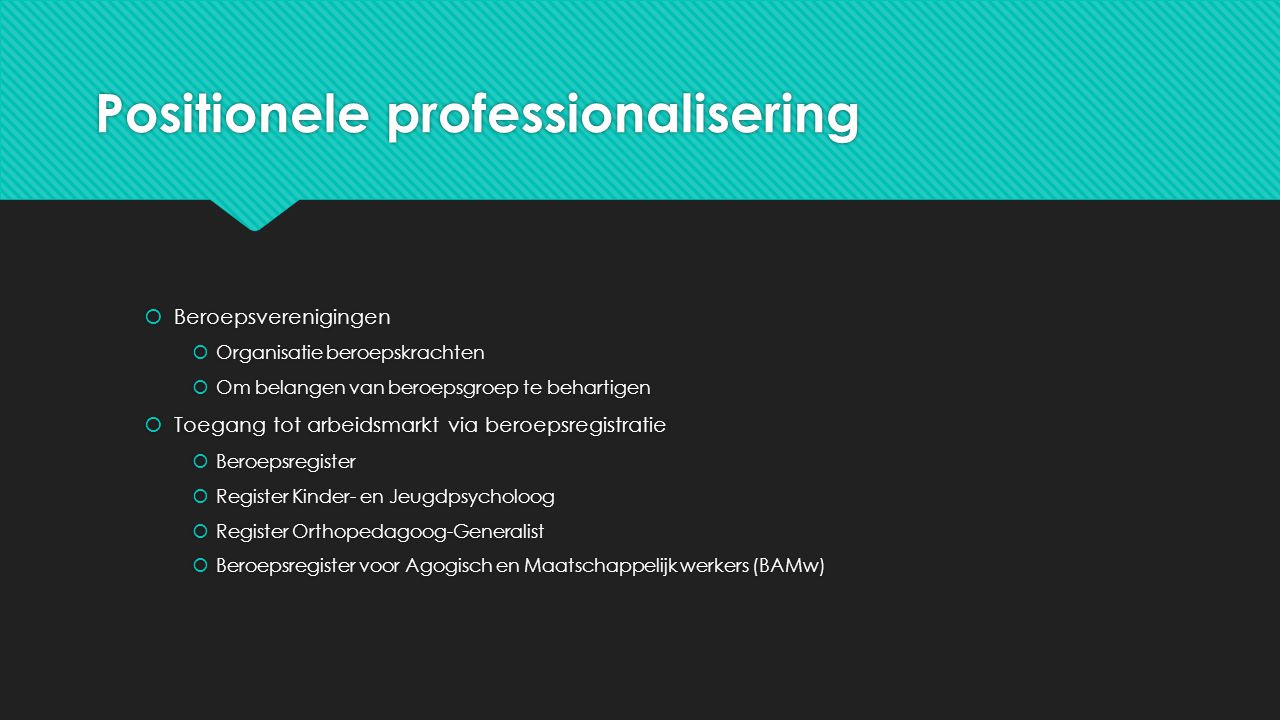 Positionele professionalisering