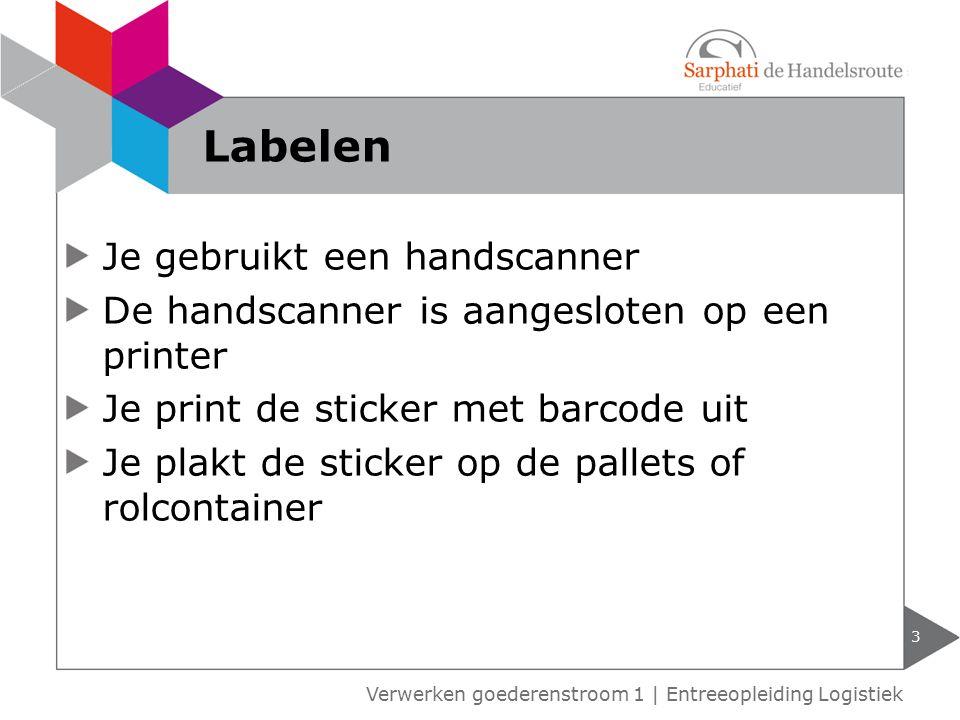 Labelen Je gebruikt een handscanner