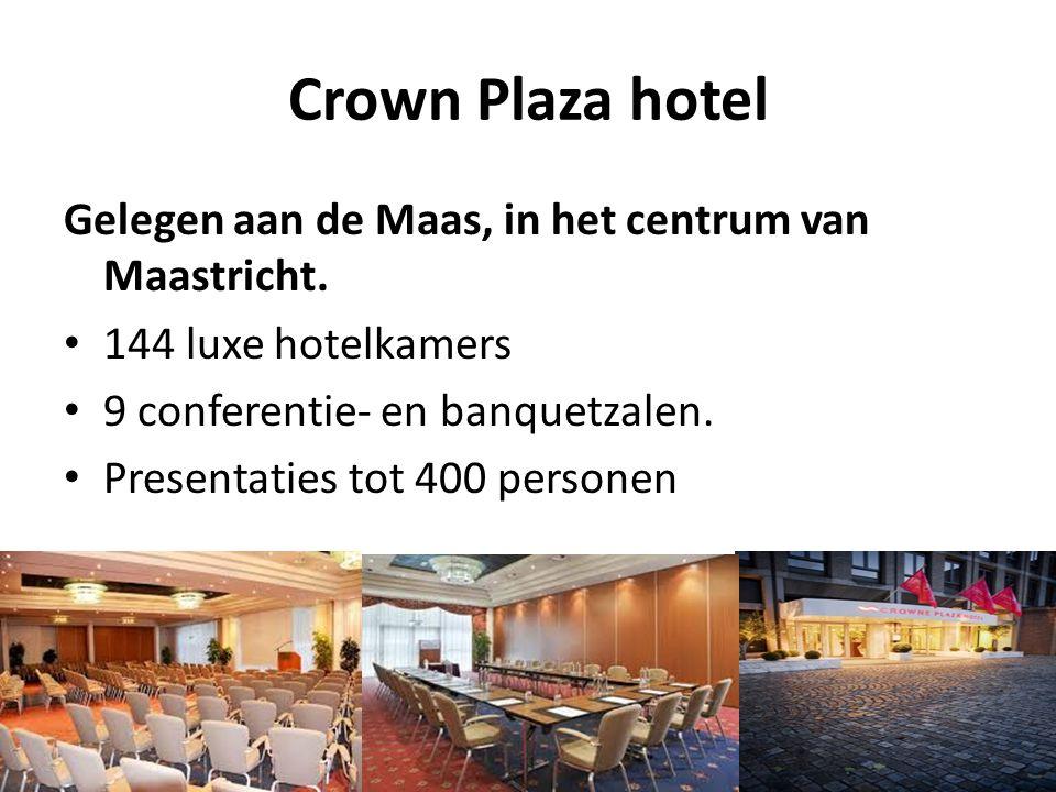Crown Plaza hotel Gelegen aan de Maas, in het centrum van Maastricht.