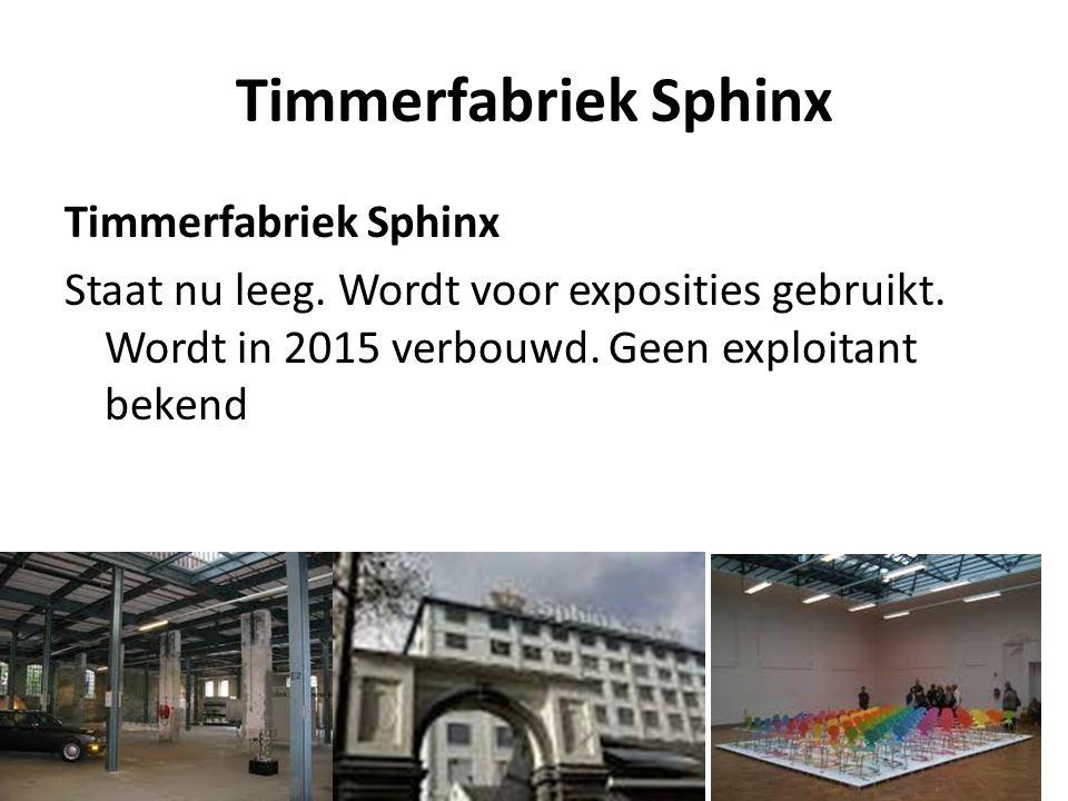 Timmerfabriek Sphinx Timmerfabriek Sphinx Staat nu leeg.