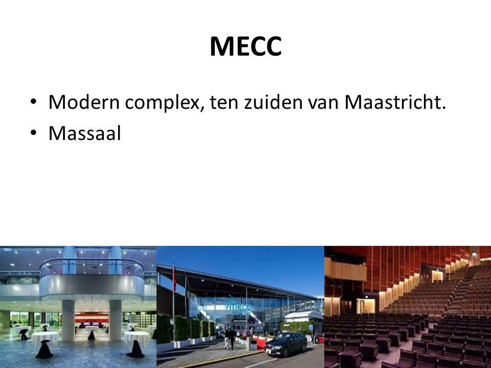 MECC Modern complex, ten zuiden van Maastricht. Massaal