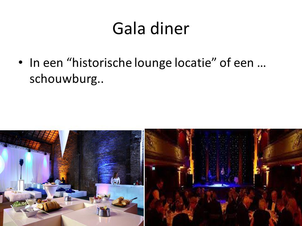 Gala diner In een historische lounge locatie of een … schouwburg..