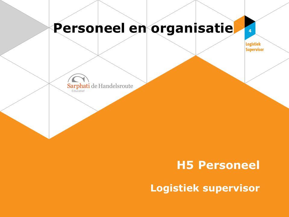 Personeel en organisatie