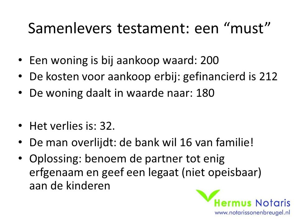 Samenlevers testament: een must