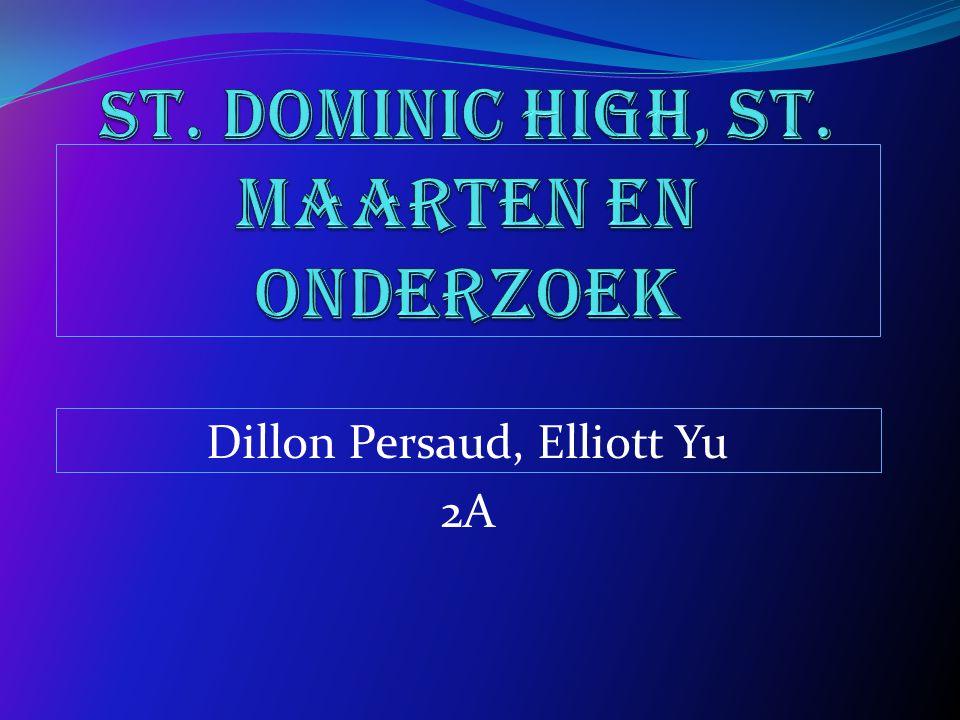 St. Dominic High, St. Maarten en Onderzoek