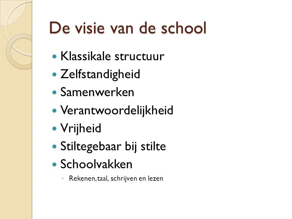 De visie van de school Klassikale structuur Zelfstandigheid