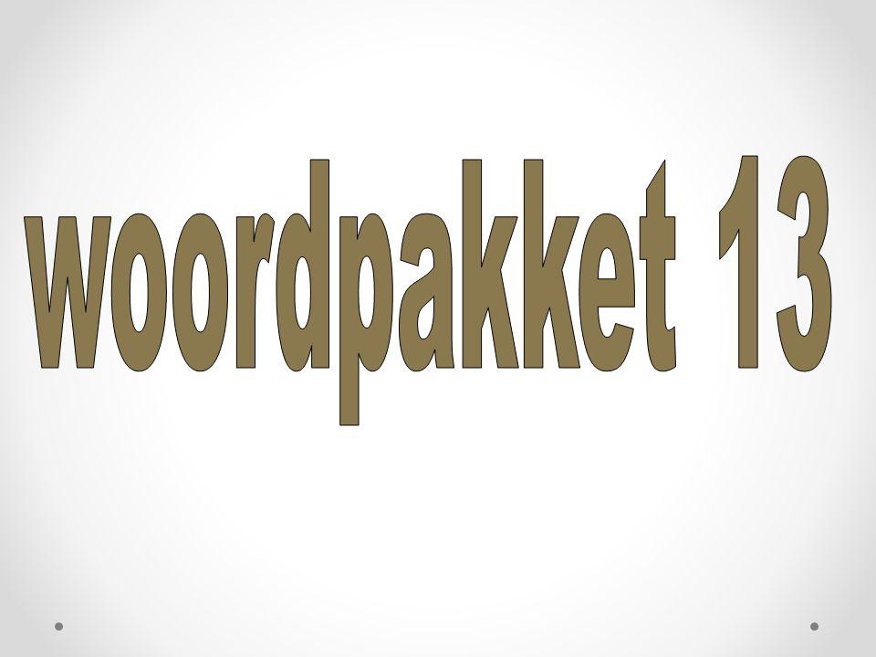 woordpakket 13