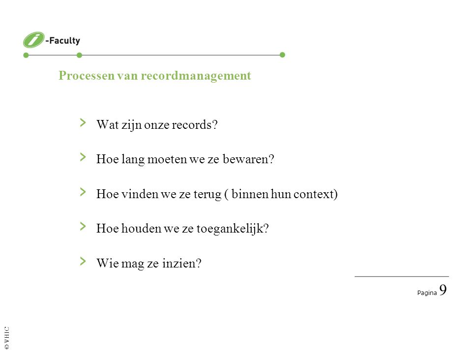 Processen van recordmanagement