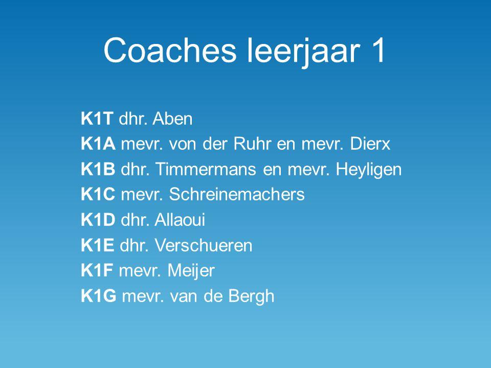 Coaches leerjaar 1