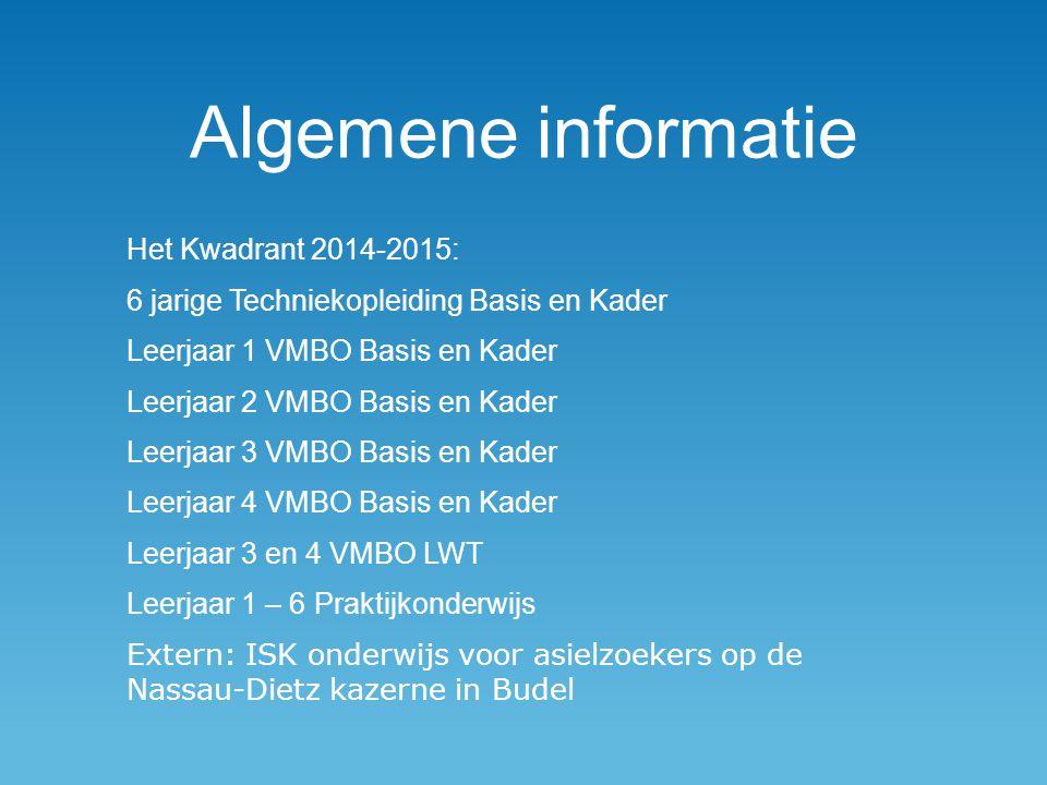 Algemene informatie Het Kwadrant 2014-2015: