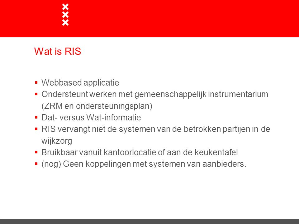 Wat is RIS Webbased applicatie