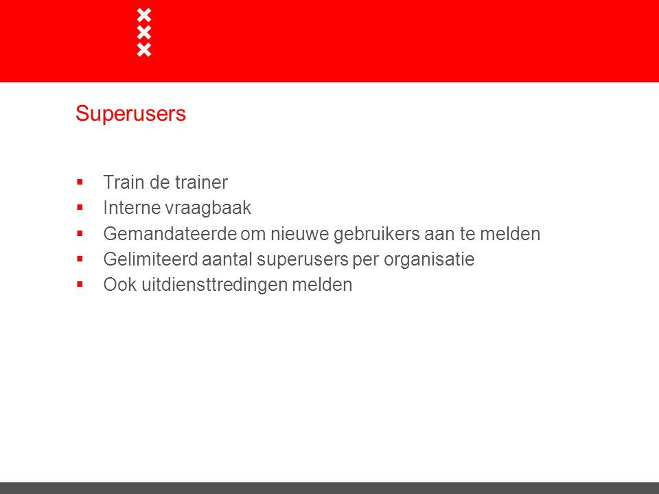 Superusers Train de trainer Interne vraagbaak