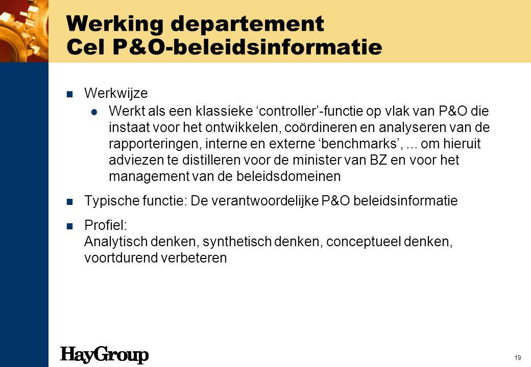 Werking departement Cel P&O-beleidsinformatie