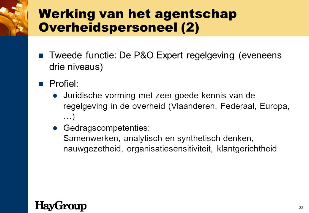 Werking van het agentschap Overheidspersoneel (2)