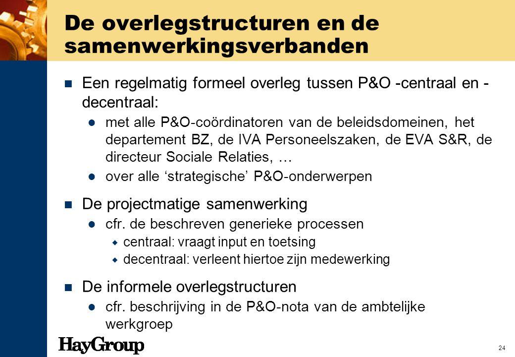 De overlegstructuren en de samenwerkingsverbanden
