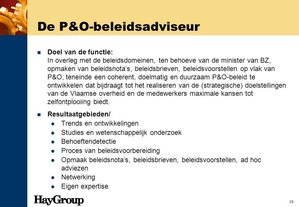 De P&O-beleidsadviseur