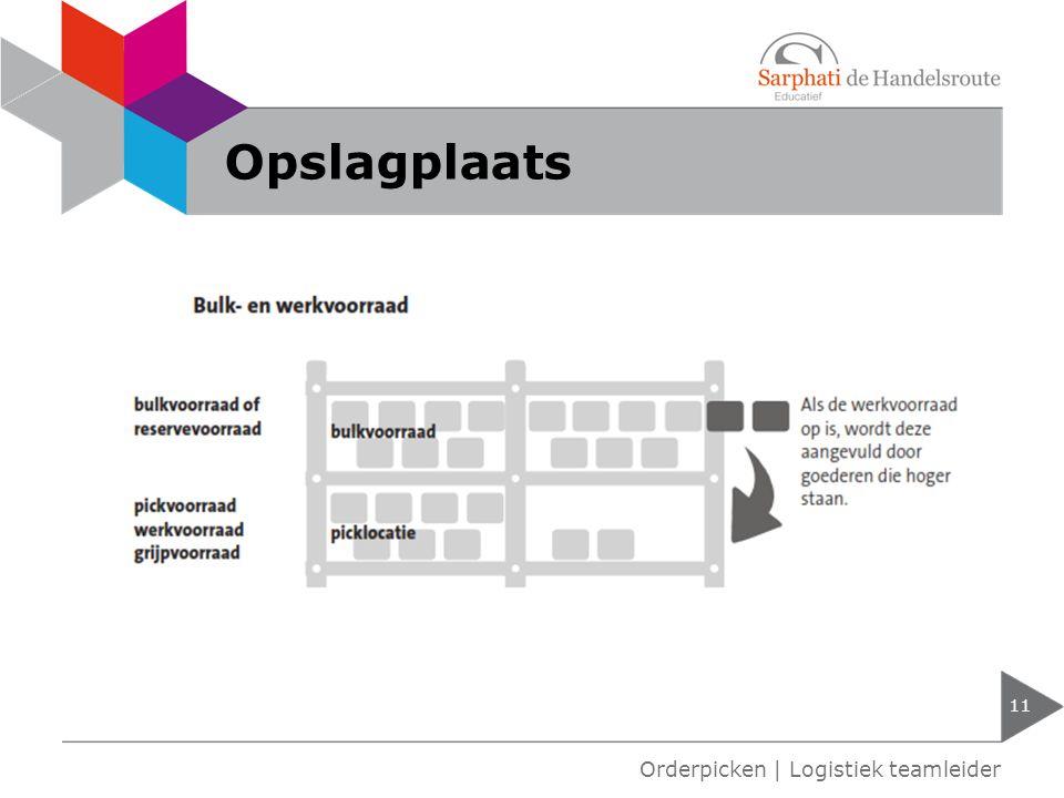 Opslagplaats Orderpicken | Logistiek teamleider