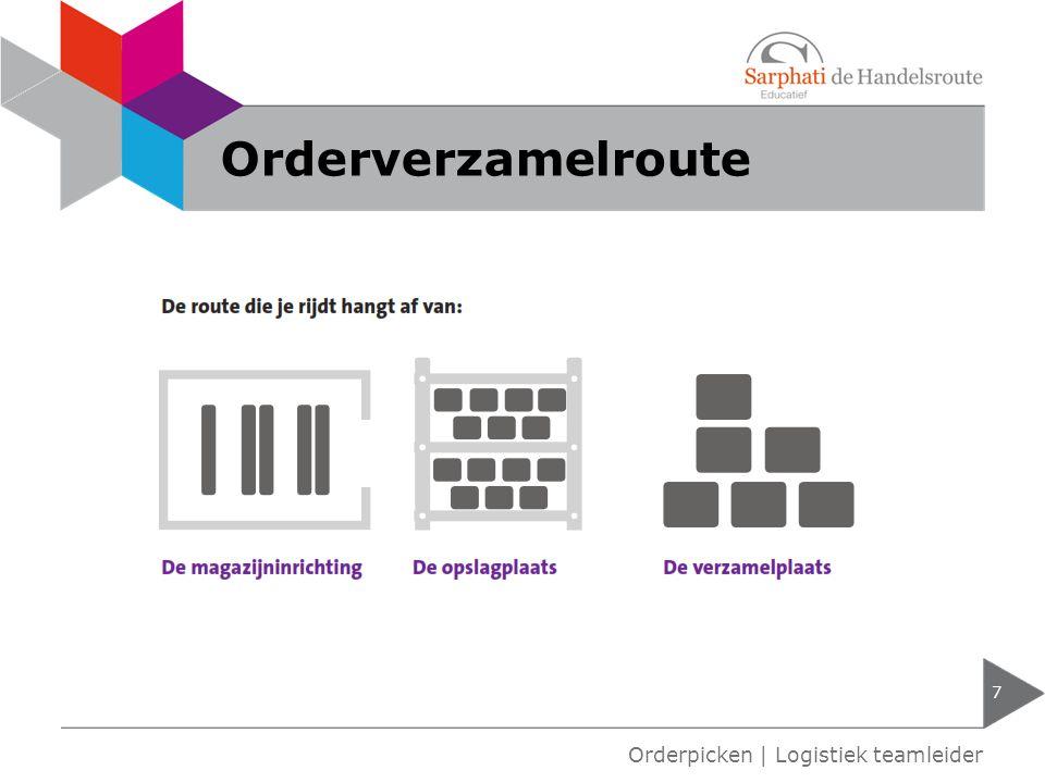 Orderverzamelroute Orderpicken | Logistiek teamleider