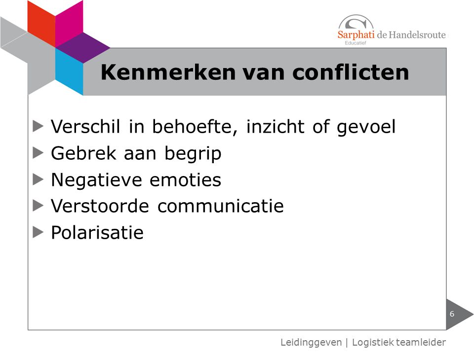 Kenmerken van conflicten