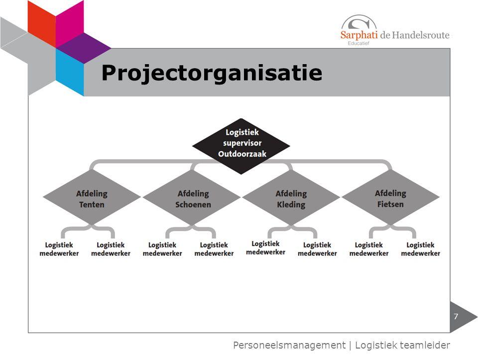 Projectorganisatie Personeelsmanagement | Logistiek teamleider