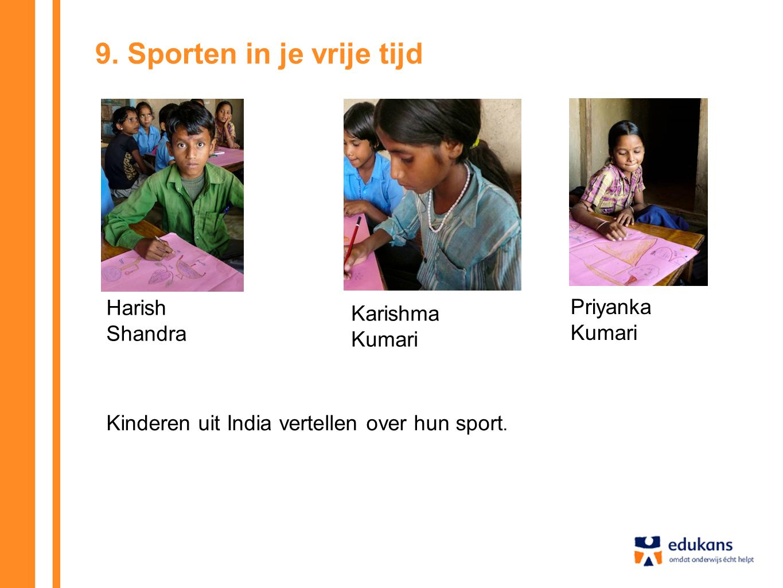 9. Sporten in je vrije tijd