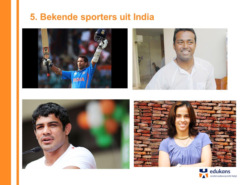 5. Bekende sporters uit India