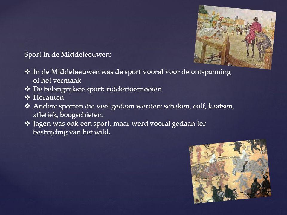 Sport in de Middeleeuwen: