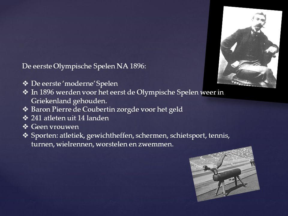 De eerste Olympische Spelen NA 1896: