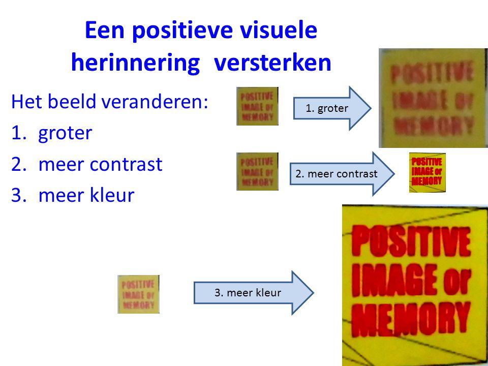 Een positieve visuele herinnering versterken