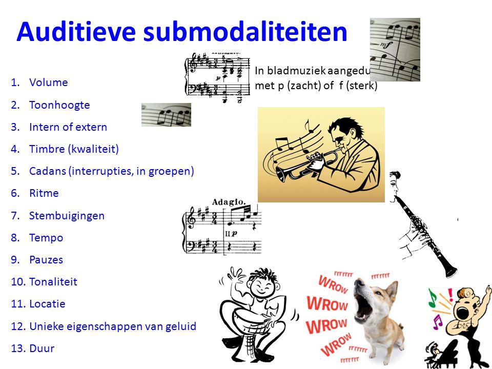 Auditieve submodaliteiten