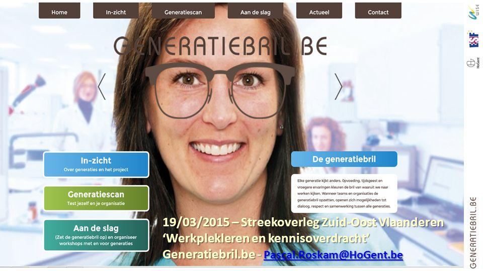 19/03/2015 – Streekoverleg Zuid-Oost Vlaanderen