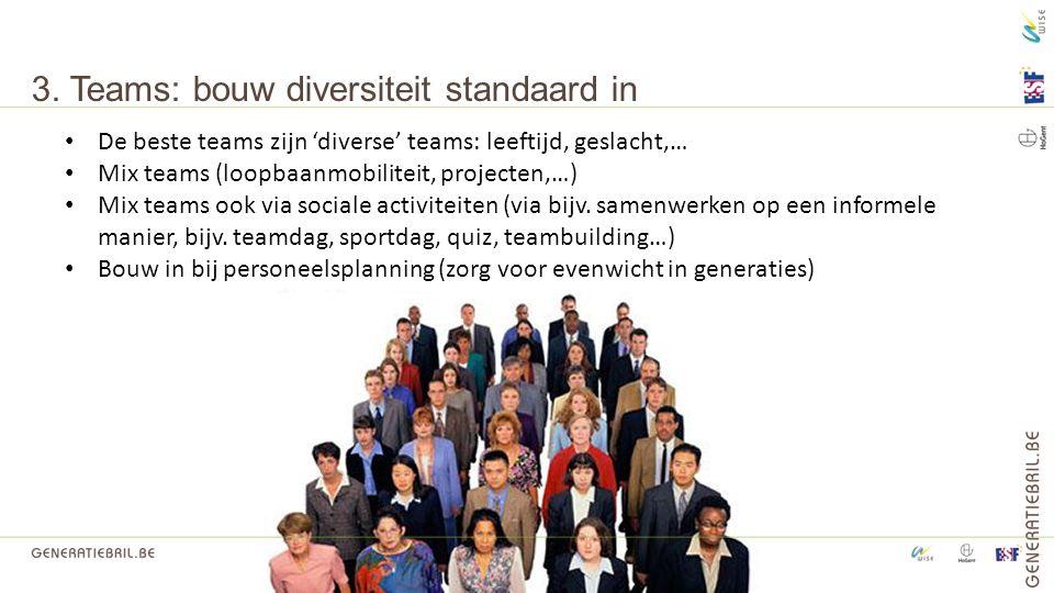 3. Teams: bouw diversiteit standaard in