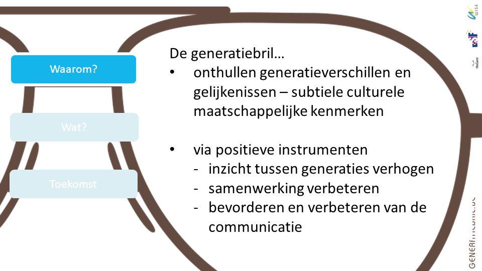 via positieve instrumenten inzicht tussen generaties verhogen