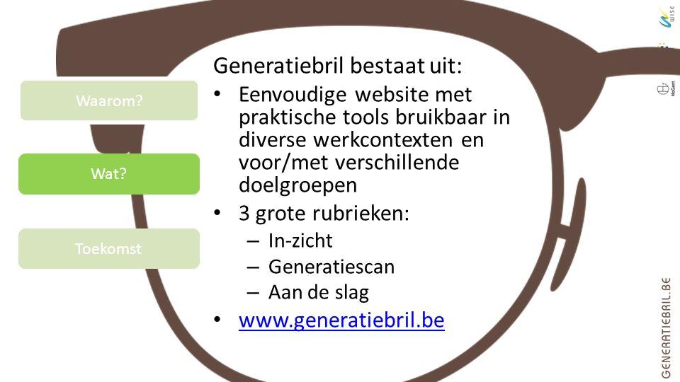 Generatiebril bestaat uit: