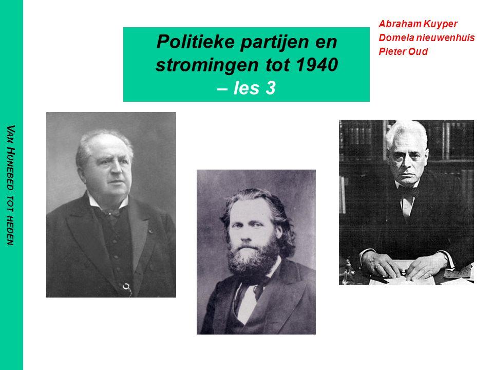 Politieke partijen en stromingen tot 1940