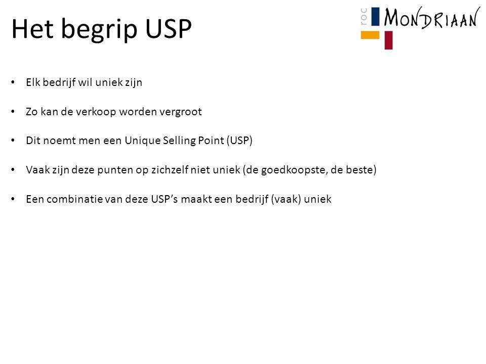 Het begrip USP Elk bedrijf wil uniek zijn