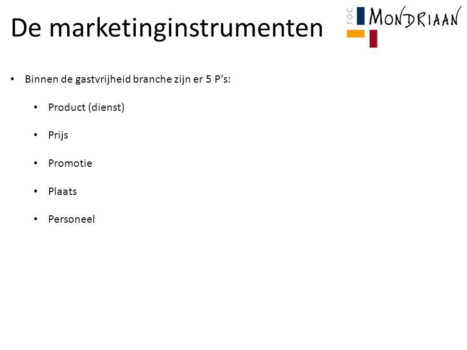 De marketinginstrumenten