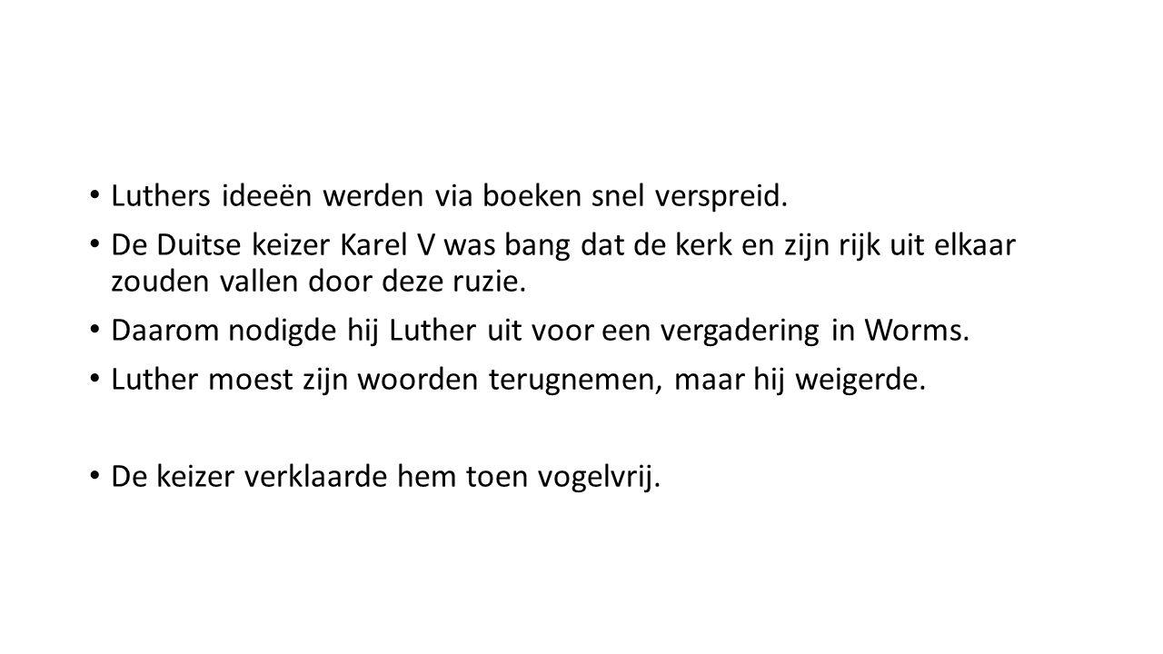 Luthers ideeën werden via boeken snel verspreid.