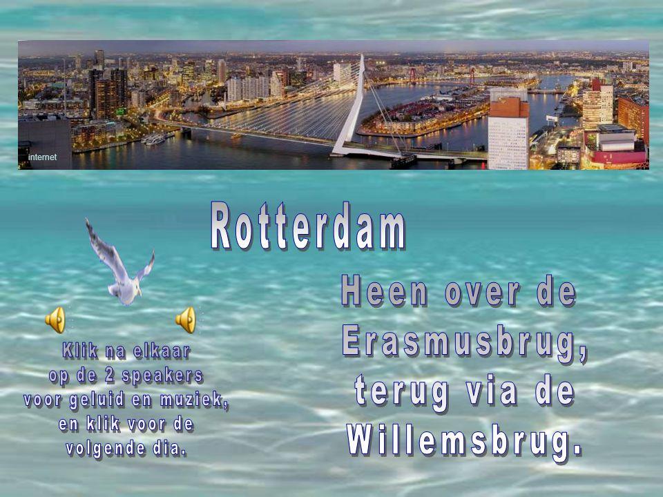 Rotterdam Heen over de Erasmusbrug, terug via de Willemsbrug.