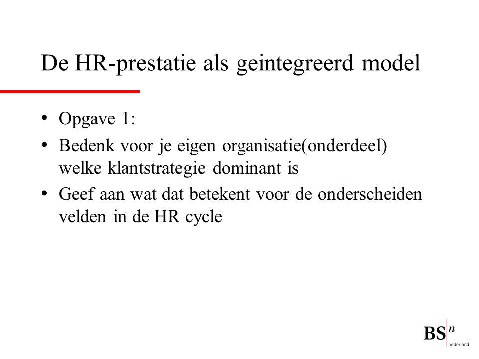 De HR-prestatie als geintegreerd model