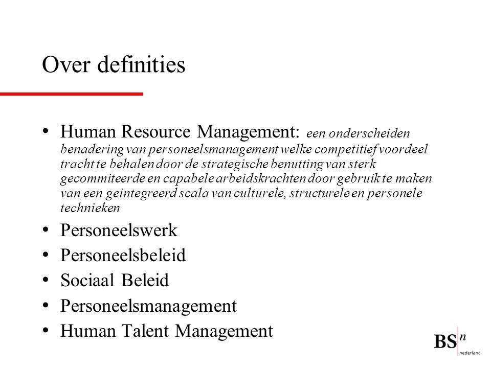 Over definities