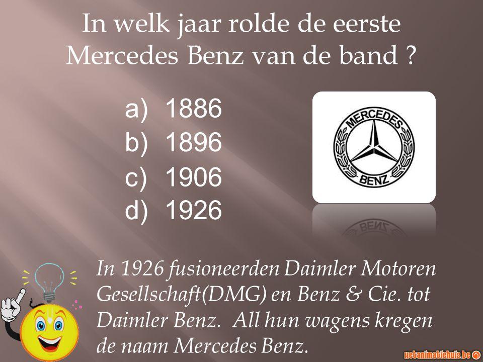 In welk jaar rolde de eerste Mercedes Benz van de band