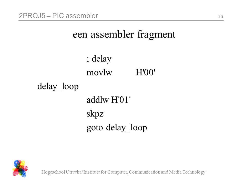 een assembler fragment