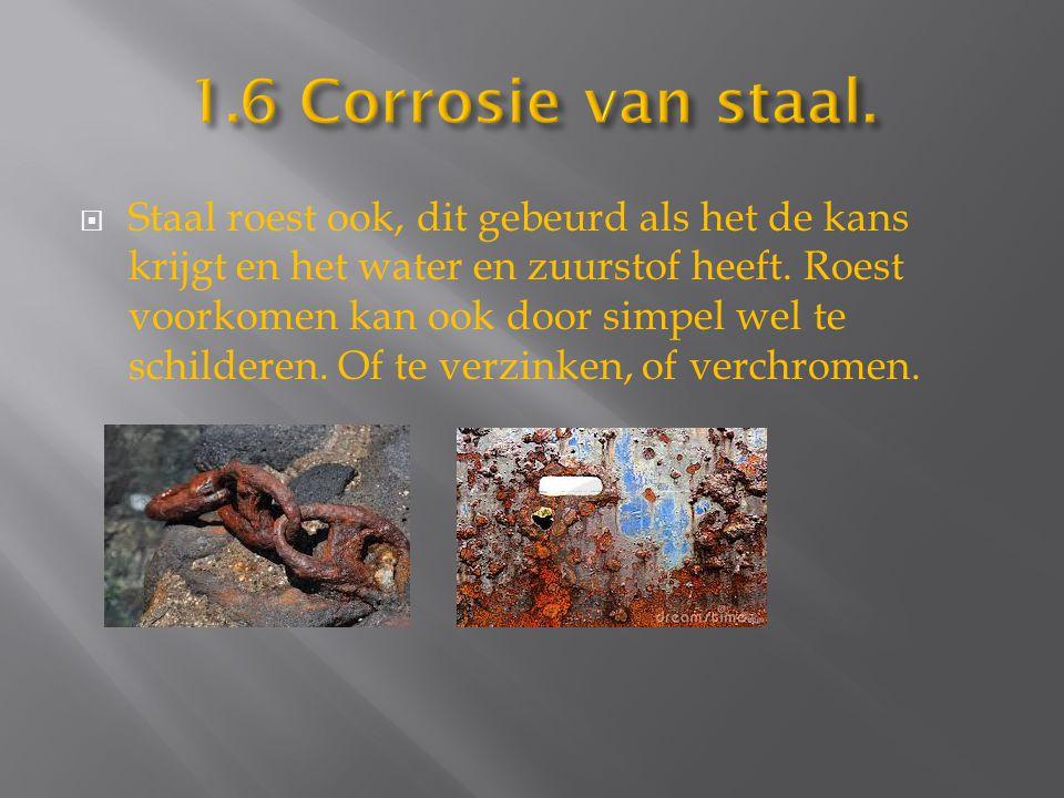 1.6 Corrosie van staal.