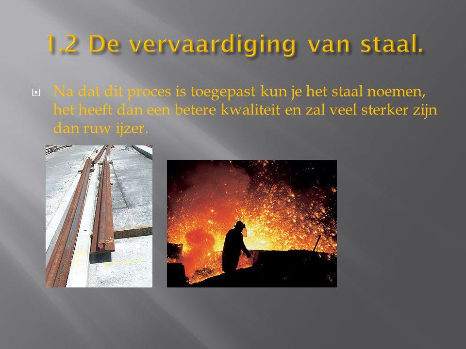1.2 De vervaardiging van staal.